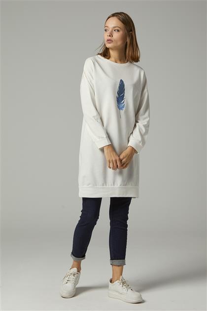 Tunik-Beyaz UZ-0W0098-2