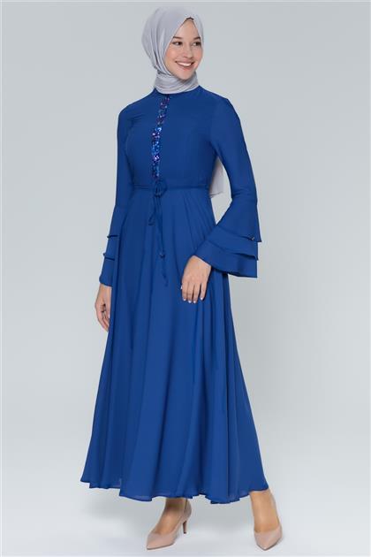 Armine Pulpayet Detaylı Elbise Saks 9Y902