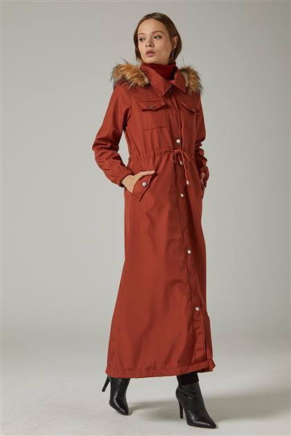 جاكيت طويل -أحمر قرميدي UA-0W20103-58