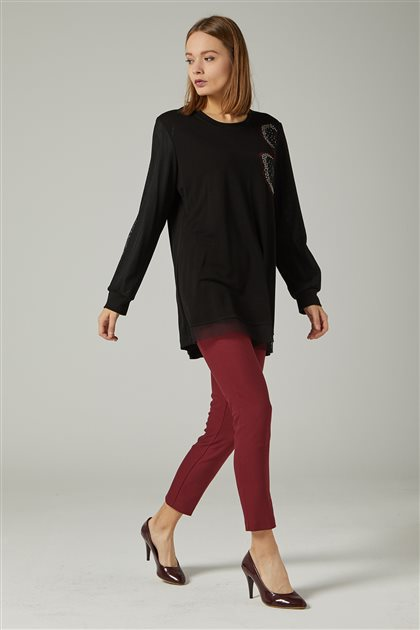 Blouse-Anthracite-Claret Red 1202-50-67