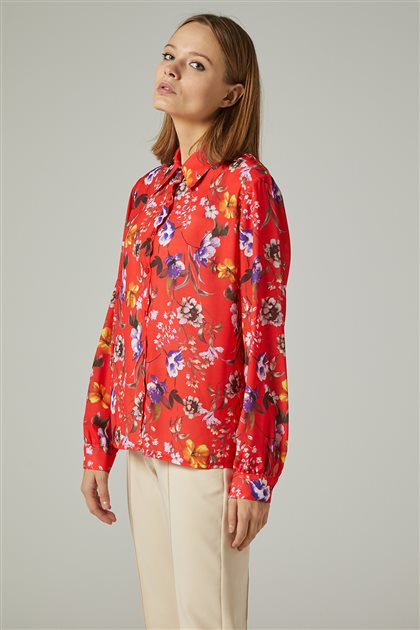 Blouse-Red 4187-34