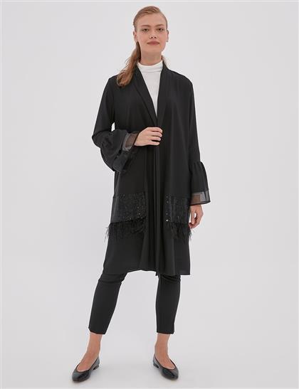 Payet ve Saçak Detaylı Giy-Çık Siyah A20 25107