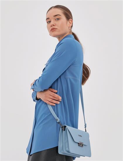 Metal Tokalı Çanta Mavi A20 CNT04