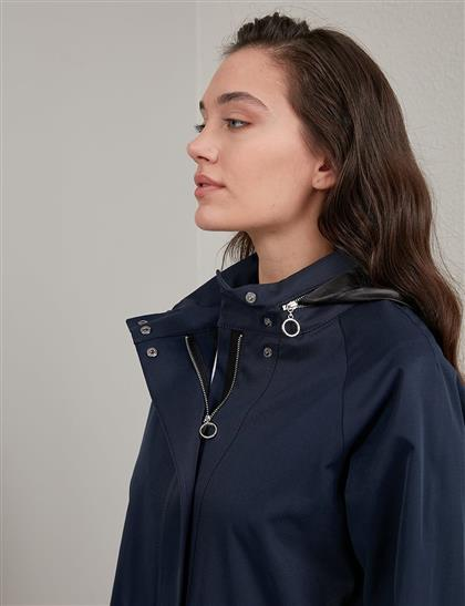 Trench Coat Navy Blue A20 14027
