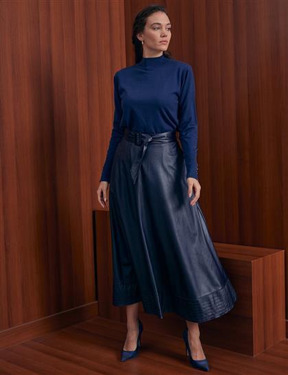 Skirt-Navy Blue KA-A20-12037-11