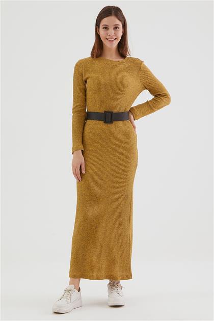فستان-خردل LA-0WET7001-55