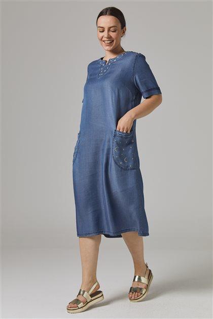 Elbise-Indıgo 8025-83