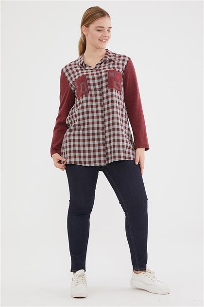 Shirt-Claret Red 1023-67