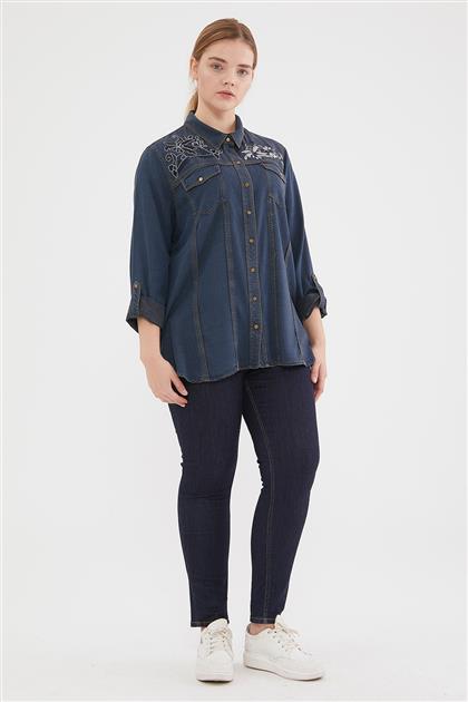 Shirt-Navy Blue 1001-17