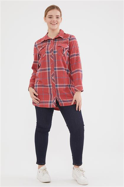 Blouse-Red 6011-34