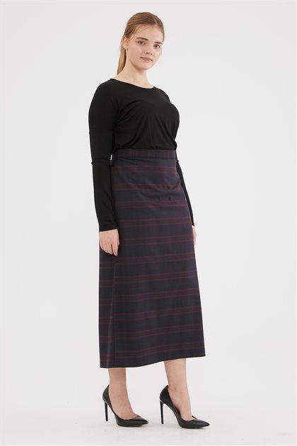 Skirt-Navy Blue 754-201-17