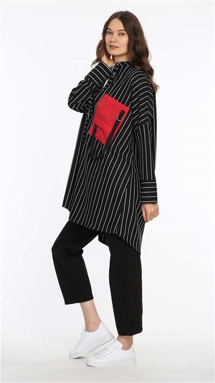 Tunik-Siyah-Kırmızı 20K2500-01-34