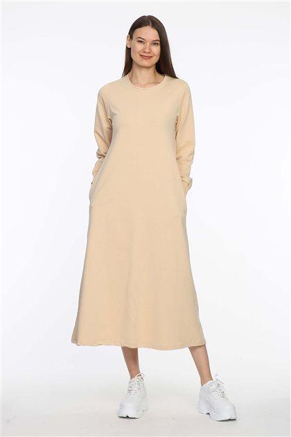 201-11 فستان-بيج