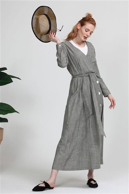 5102-21 فستان-أخضر