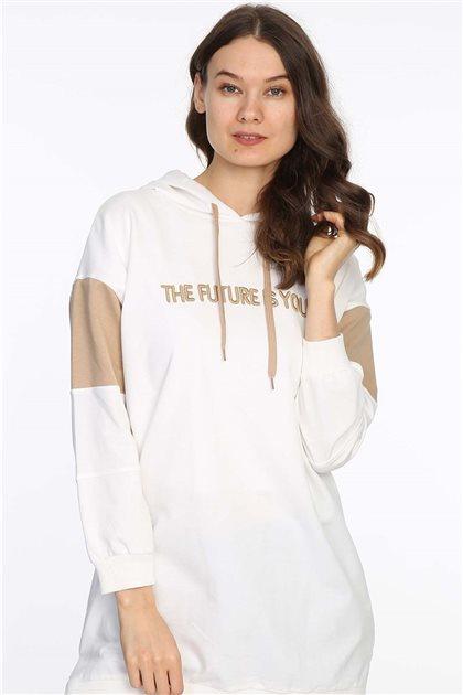 Sweatshirt-Beyaz 607-02