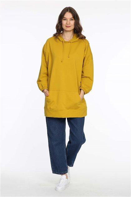 Sweatshirt-Sarı 606-29