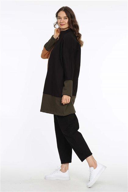 Sweatshirt-Siyah-Hardal 601-01-55