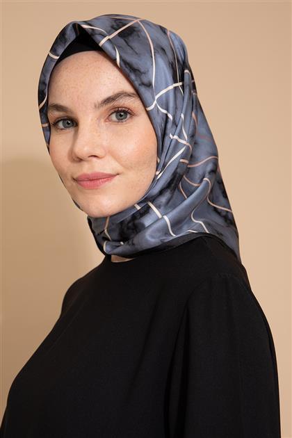 Mermer Desen Eşarp Füme-Siyah MREŞ4