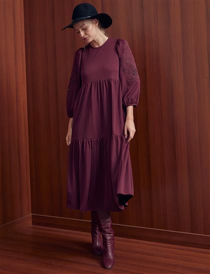 Elbise-Bordo KA-A20-23126-26