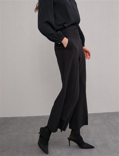 KYR Bol Paça Yüksek Bel Pantolon Siyah A20 79560