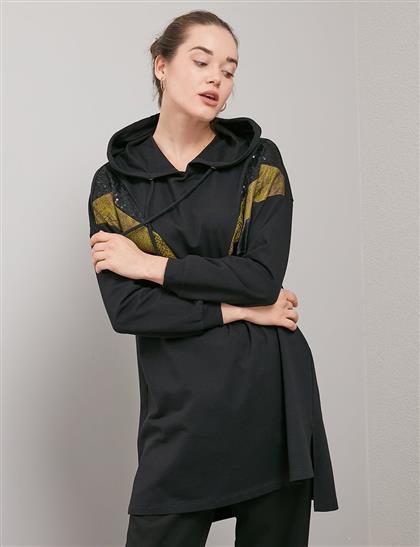 KYR Şeritli Sweatshirt Siyah A20 81556
