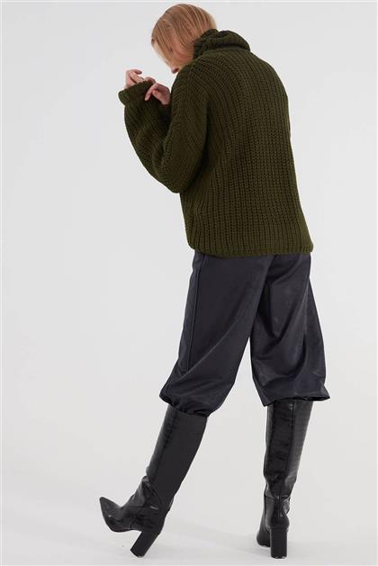 Kadın Deri Pantolon Lacivert V20KPNT35007