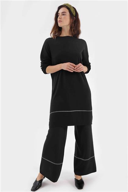 Zamansız Kadın Triko Takım Siyah VZMSTKM94003