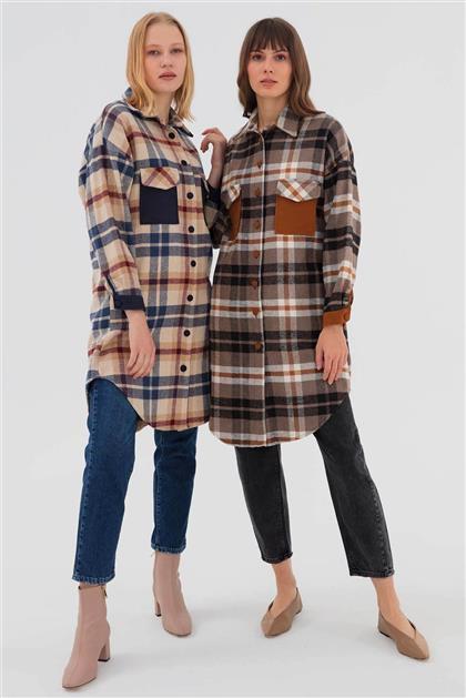 Pamuklu Cep Detaylı Kadın Ceket Lacivert V20KCKT14010