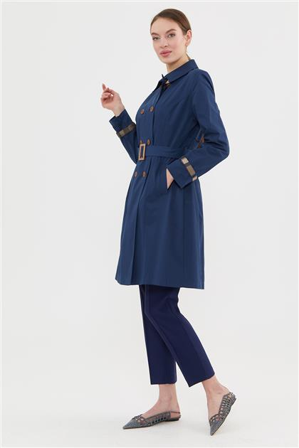 Trench Coat-Navy Blue 425-17