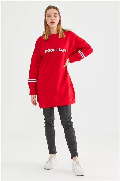 Sweatshirt-Red 8271-34