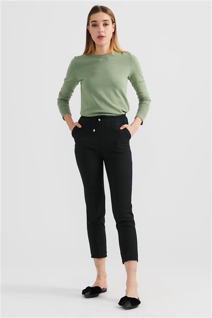 Beli Lastikli Pantolon-Siyah LA-0W1001-01