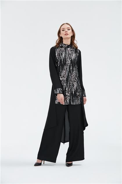Clio Collection Tunik Pantolon Takım Siyah 20Y1557002 20Y1557002