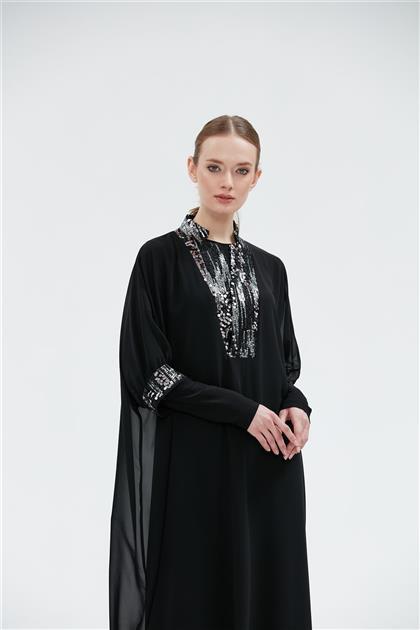 Clio Collection İki Parça Üst Şifon İç Sandy Elbise Siyah 20Y1596002 20Y1596002