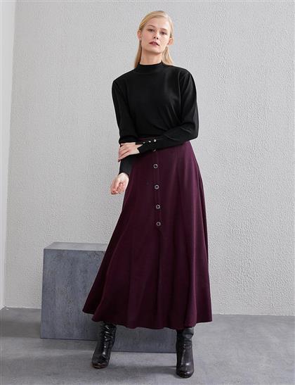 Skirt-Plum KA-A20-12061-29