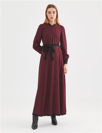 فستان-بوردو KA-A20-23129-26