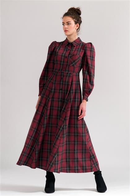 5077 - فستان منقوشة