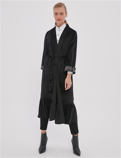 İşlemeli Kısa Giy-Çık Siyah A20 25124