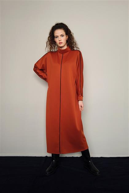 5113 - فستان أحمر قرميدي