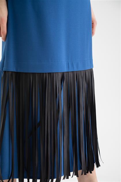 Elbise-İndigo V19KELB17005-35