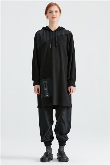 Cepli Düşük Kol Tunik Pantolon Takım 1176