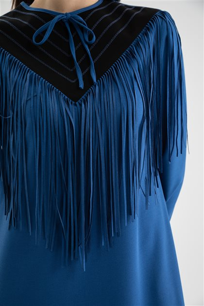 Elbise-İndigo V19KELB17006-35