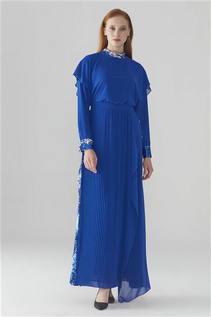 ZÜHRE Pul Payet Detaylı Elbise Saks E-0089 Z20YB0089ELB101-R1207