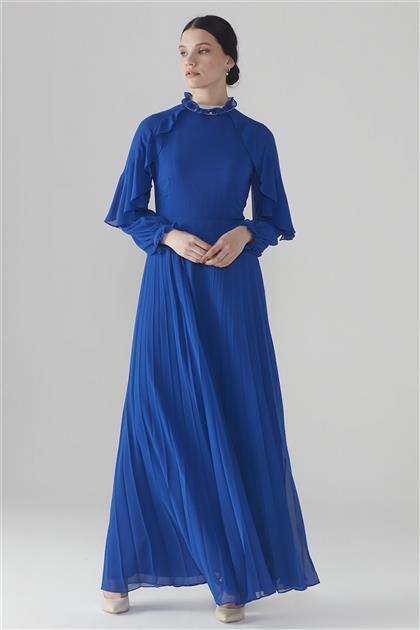 ZÜHRE Kol Volan Detaylı Elbise Saks E-0105 Z20YB0105ELB101-R1207