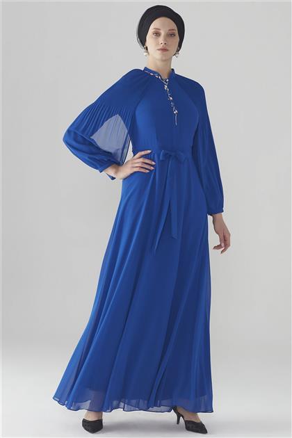 ZÜHRE Kol Volan Detaylı Elbise Saks E-0108 Z20YB0108ELB101-R1207