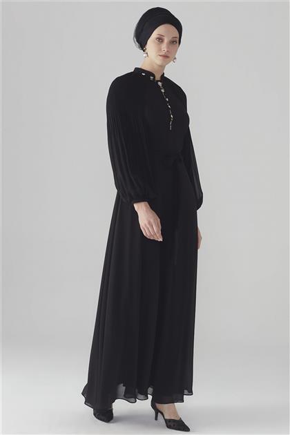 ZÜHRE Kol Volan Detaylı Elbise Siyah E-0108 Z20YB0108ELB101-R1210