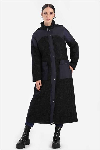 Coat Navy Blue Brown V20KKBN25018