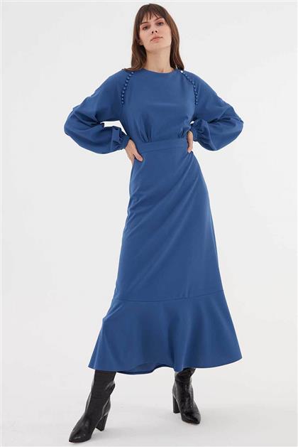 Elbise-İndigo V20KELB17047-35
