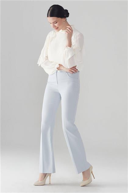 ZÜHRE Düğme Detaylı Pantolon Açık Mavi P-0103 Z21YBP-0103PT10001-R1014