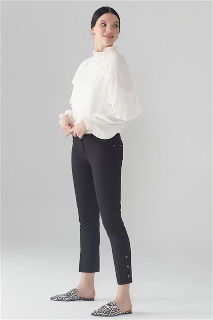 ZÜHRE Paça Rivet Detaylı Pantolon Siyah P-0107 Z21YBP-0107PT10001-R1210