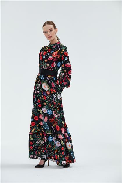 Çiçek Baskı Desen Elbise 21Y1460101